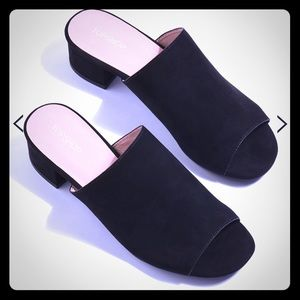 Topshop Mary Black Casual Mules Shoes 10.5 Divine